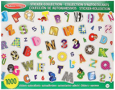 Melissa & Doug Sticker Collection - Alphabet and Numbers 1000 Letter and Numb...