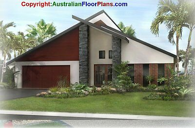 DIY- 4 bedrooms - Contruction House Floor Plans - Cheap plans for owner builders