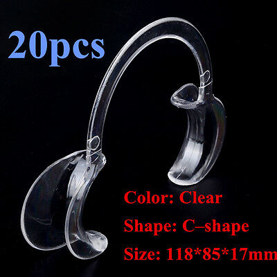 Clear Middle Mouth opener Dental Teeth Whitening Cheek Retractor C-Type 20pcs