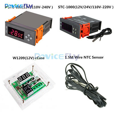 W1209 12/24/220V STC-100/STC-1000 Digital Temperature Controller Thermostat+NTC