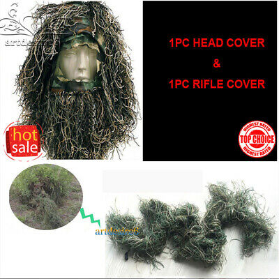 1Set Hunting Camo Accessories Head Veil Rifle Cover for Ghillie Sniper Paintball