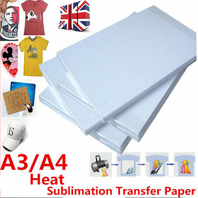 100 pcs A3 / A4 Sublimation Transfer Paper Heat Press  For T-Shirt Porcelain Cup