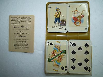 Vtg Pre-1939 German Stuttgart ASS Travelling Game Patience Playing Cards, 6.5 cm