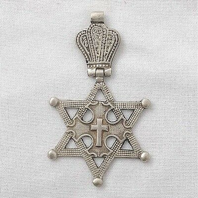 Star of David shaped Coptic Orthodox cross pendant Ethiopia