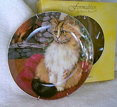 FORMALITIES by BAUM BROS Collector Plate MOUSE CAT Long Hair Cats Collection NEW