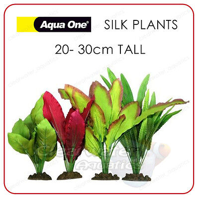 4 Pack AQUARIUM SILK PLANTS Artificial Fish Tank DECOR Soft Plastic Decoration