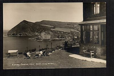 Combe Martin from Sandy Cove Hotel - real photographic postcard