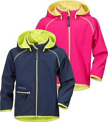 Didriksons Freneka Kids Softshell Jacket Girls Boys Windshell