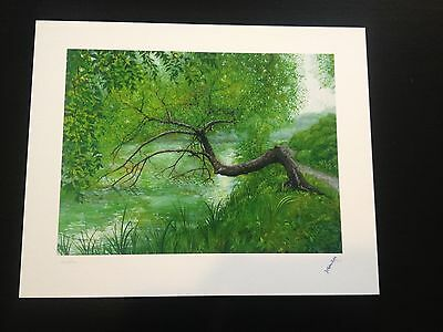 David Welker A Walk In The Woods Art Print 2012 Signed Numbered Giclee Rare