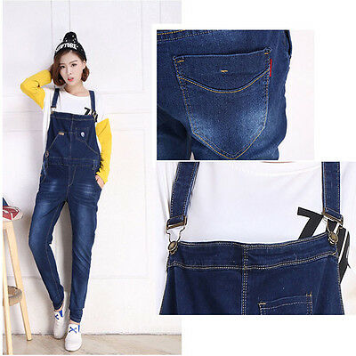 Pregnancy Maternity Jeans Overalls Dungarees Trousers Skinny Cute Comfy M/L/XL