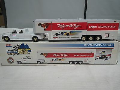 Exxon 1996 Race Team-Support Car Carrier-Die Cast Metal-New
