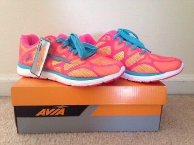 AVIA Rush WOMENS ATHLETIC RUNNING SHOES SIZE 8 SPORTS SNEAKERS CASUAL Pink blue