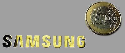 SAMSUNG METALISSED GOLD EFFECT STICKER LOGO AUFKLEBER 50x8mm [620]