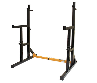 NEW Adjustable Squat Rack with Dip Bars Home Weights Training Gym Fitness Gear