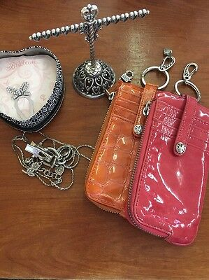 Brighton 5 Pc Lot Lanyard Bookmark Ring Holder Credit Card Wallet