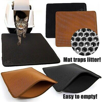 Cat Litter Tray Mat Large Eva Two Layers Kitten Scatter Control Floor Easipet