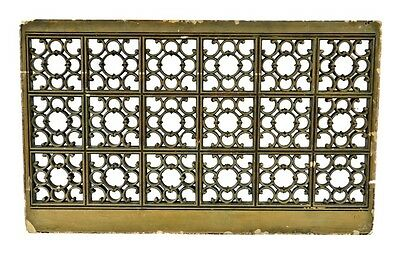 1927 Lawndale Theater Lobby Cast Plaster Air Vent Grille W/ Old Green Finish