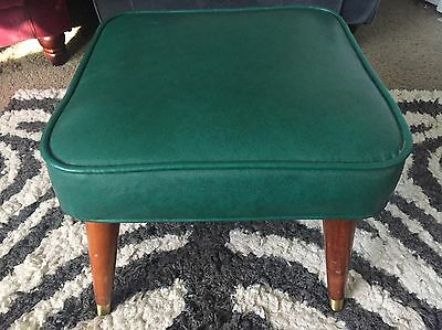 Vintage Babcock Phillips Mid Century Modern Danish Ottoman Foot Rest Stool Green