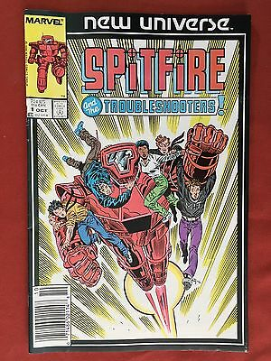 Marvel New Universe: Spitfire and the Troubleshooters #1 (Oct 1986) - F/VF