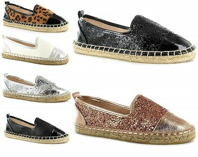 Ladies Womens Canvas Espadrilles Flat Shoes Girls Summer Pumps Plimsolls Size
