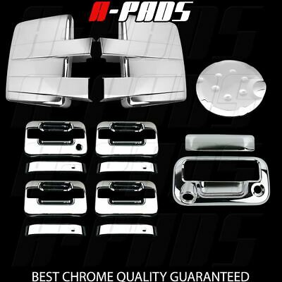 09-14 FORD F150 Chrome Mirror&4 Door Handle w/o Key Pad&Tailgate w/Cam&Gas Cover