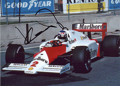 Keke Rosberg F1 autograph, In-Person signed 5X7 inches McLaren photo