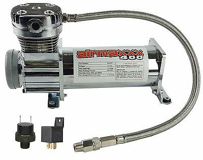 AIR RIDE SYSTEM Compressor Chrome WITHOUT AirMaxxx DECALS480 AirHorn