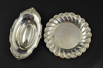 Two trays. Silver (916) and silver. Spain, 20th century.
