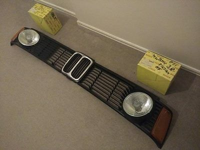 Bmw E21 Complete Single Light Front Grille Set New, Genuine ( Bosch,gerhardi,..)