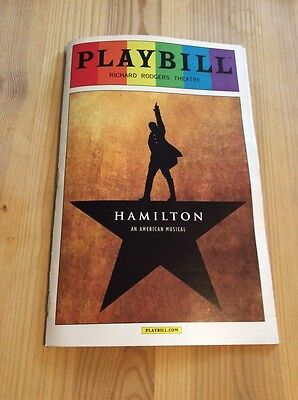 HAMILTON Broadway Musical PLAYBILL JUNE 2016 Rainbow Pride Cover NYC LIN MANUEL