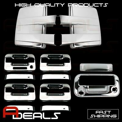 09-14 FORD F150 Cover Chrome Mirror&4 Door Handle W/KP W/O PK&Tailgate W/Key&CAM