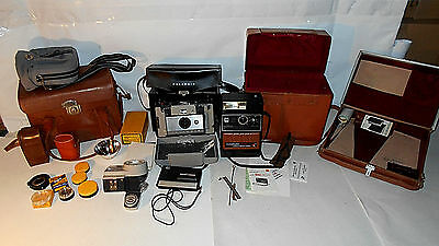 VIntage Polaroid / Kodak / Cameras / Cases/  accessories / Parts Lot