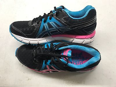 Asics Gel-Excel 33 2 Women's Running Shoe NIB Black/Electric Pink/Turquoise