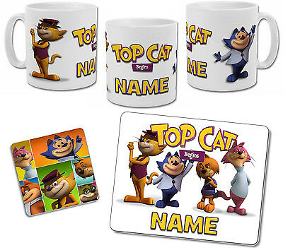 Personalised Top Cat Begins Mug with Coaster & Placemat Options