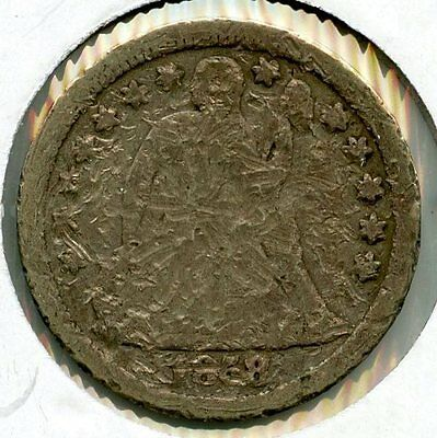 1858 Seated Liberty Dime - AK145