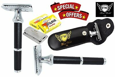 FW®- Men Stainless Steel Classic Safety Razor Double Edge Classic Vintage Blades