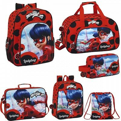 Miraculous Ladybug Backpack Rucksack Travel Sports School Shoulder Lunch Bag