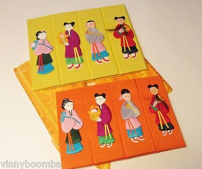 Vintage Chinese Boxes Travel Souvenirs Folding Box Artwork Of Characters On Side