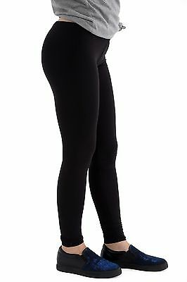 Women Ladies Full Length Stretch Plain Leggings Plus Sizes 45% Cotton