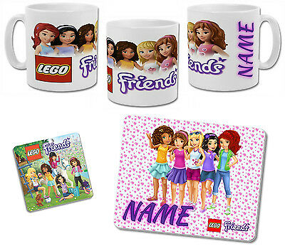 Personalised Lego Friends Mug with Coaster & Placemat Options