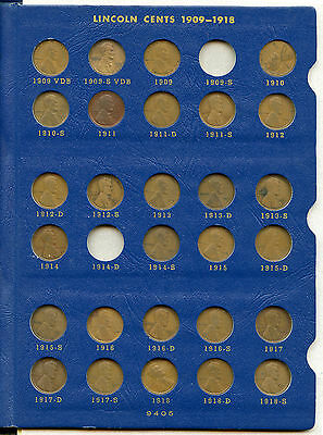 1909 - 1940 Lincoln Wheat Cents Coin Set Collection & 9405 Whitman Album - AC57