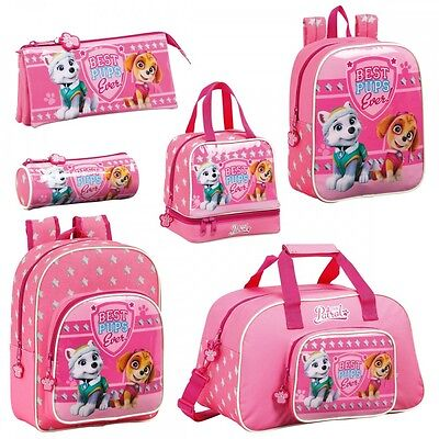 Paw Patrol Girls Pink Backpack Rucksack School Holiday Lunch Sports Gym Bag