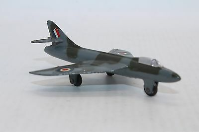 Dinky Toys No 736 Hawker Hunter - Meccano Ltd - Made In England airplane