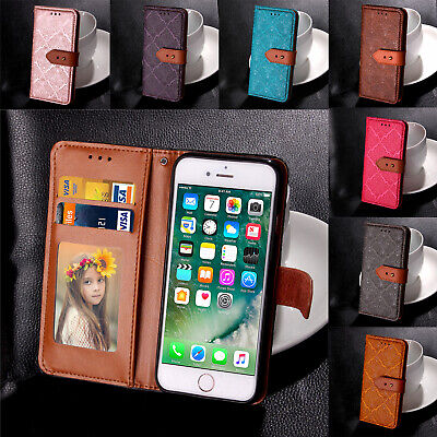 Painted Leather Wallet Flip Stand Card Holder Case Cover For iPhone 5 6s 7 Plus