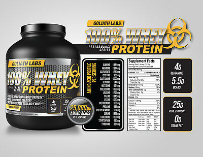 Whey Protein Powder 10 lb Monster Muscle 100% Cold Filtered FREE SHIPPING