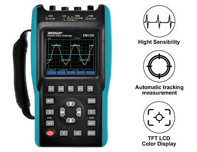 2 In 1 Handheld Digital Storage Oscilloscope TRMS 2 Channels 25MHz Color Screen