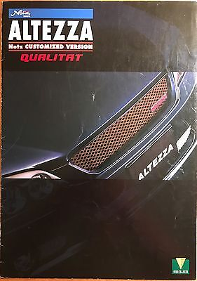 VERY RARE Toyota Altezza [Lexus IS300] Japanese Accessories Brochure