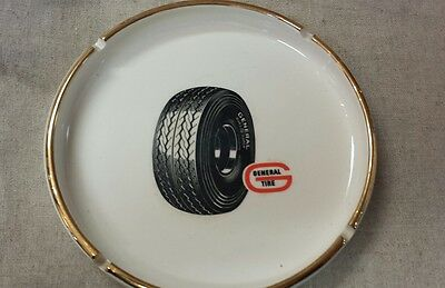 "Vintage  general tire advertising  7"" porcelain ashtray"