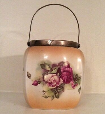 "9"" Rose Antique Biscuit Barrel"