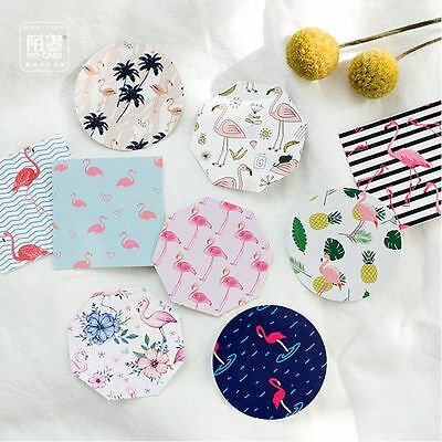 DIY Scrapbook Paper Cartoon Flamingo Lable Stickers Crafts Decor Lifelog Sticker
